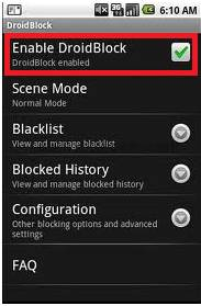 Enable AndroidBlock