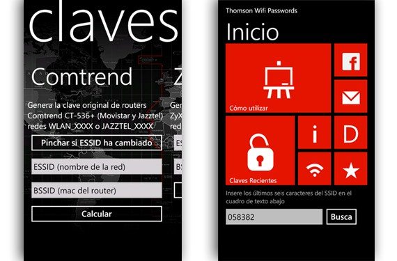 Claves Wifi en Windows Phone
