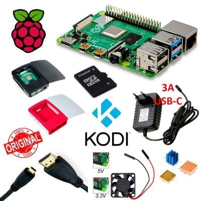 Kit Media Center Raspberry Pi 4